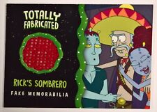 2019 Rick and Morty Season 2 Fabricated Fake Memorabilia RICK'S SOMBRERO TF09