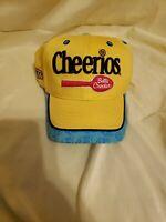 VTG 90s John Andretti #43 Yellow Cheerios Racing Snapback Hat Nascar Petty