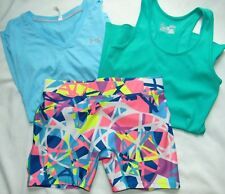 Womens Fitness Lot (3) UNDER ARMOUR Compression Shorts, & Shirts Sz M