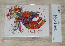 LEANIN TREE Laurel Burch Cat #35879~8 Thank You Notecards~Blank Inside~