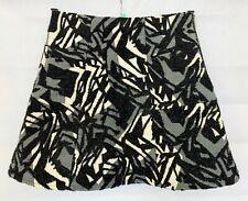 ZARA BASIC Womens Black Mix Glittery Party Skirt Size 8