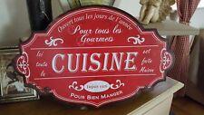 """Grande Plaque/panneau """"cuisine"""" 51*34cm"""