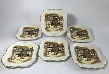 More details for 6 the jolly dover sandland ware lancaster staffordshire england vintage plates