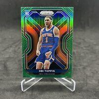 2020-21 Panini Prizm NBA Obi Toppin Green Prizm Rookie RC Knicks #280