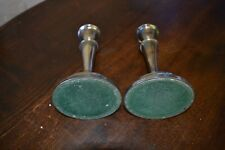 ...Pair of Vintage candle holder Old solid brass/silver plated candle holders