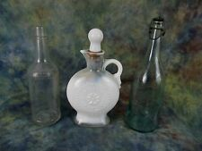 Antique Lot of 3 Old Fitzgerald 4/5 , Flour City and Lid, White Decanter w/Top