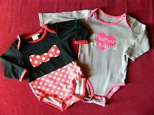 """Lot de 2 bodys bébé fille T 18 mois """"Disney,Kitchoun"""""""