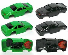 2 pc 1992 TYCO Thunderbird SC Test Shot Slot Car Body PAIR Unused Black & Green