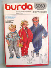 VINTAGE burda sewing pattern 6069 childs pants jacket shirt by body height NEW