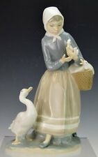 lladro 4568 Sheperdess with Ducks figurines Mint conditions free shipping