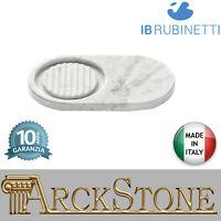Porta sapone e posa oggetti IB Rubinetti Marmo bianco Carrara accessori bagno