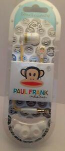 new Skullcandy Inkd Paul Frank In-Ear only Headphones white yellow