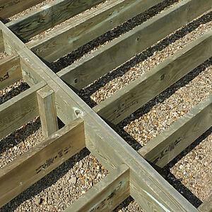 "Pressure Treated Garden Framing Timber 3x2"" 4x2"" 6x2"" Kiln Dried Decking Joists"