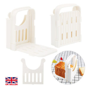 Toast Bread Slicer Plastic Foldable Loaf Cutter Rack Cutting Guide Slicing Tools