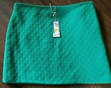 Emerald M&S Italian Wool Mix Textured Mini Skirt NEW With Tag Size 16