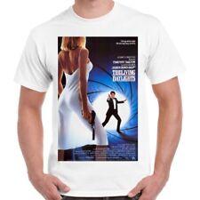 James Bond 007 The Living Daylights On the Edge Movie Poster Retro T Shirt 2242