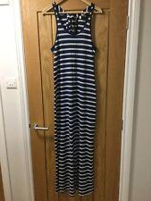 H&M Blue Stripey Stretchy Maxi Dress Size M