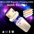 Micro USB Magnetic Adapter Charger Cable Metal Plug For Samsung Android HTC etc