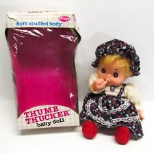 Vintage Fun World Thumb Thucker Thumb Sucking Baby Girl Doll Soft Body w/Box