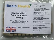 Hawthorn Berry x 120 2000mg heart blood pressure circulation angina cholestrol