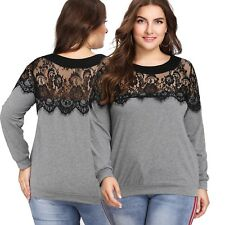 New Ladies Top With Lace Plus Size 14/2XL (1237)PT