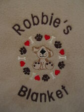 PERSONALISED DOG / PUPPY BLANKET   GREAT GIFT !