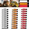 Side Marker Trailer 6 LED 30 PCS Red+Amber+White Truck Indicators 12V Rear Light