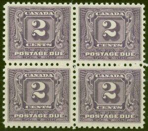 Canada 1930 2c Brt Violet SGD10 V.F MNH Block of 4