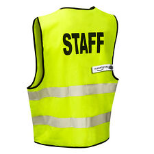 STAFF High Viz Visibility Safety Vest (Zip Front) THE-SECURITY-STORE