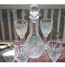 SHANNON CRYSTAL 7 PIECE WINE SET WITH TRAY