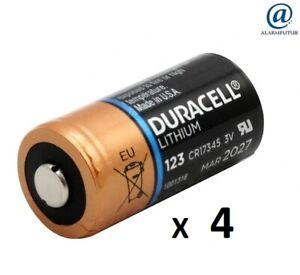 Lot de 4 piles lithium CR123A Duracell ( vrac/bulk )