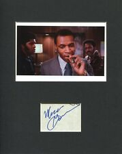 Moses Gunn Shaft Bumpy Jonas Rare Signed Autograph With Richard Roundtree