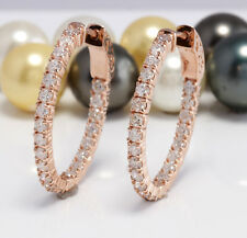 2.32 Carat Natural SI1 Diamonds in 14K Solid Rose Gold Women Earrings