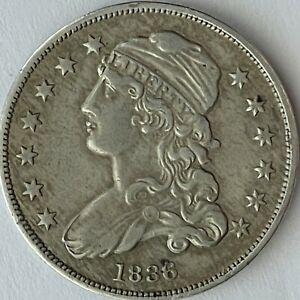 1836 Capped Bust Quarter,  Mintage 472,000 VF/XF Uncertified