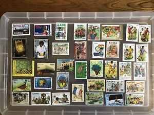 Ghana Stamps unchecked collection (cc594)