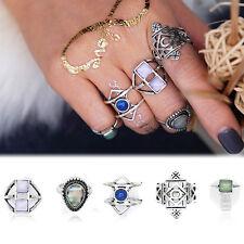 5pcs/Set Midi Ring Boho Beach Vintage Tibetan Silver Rings Women Jewelry Gift
