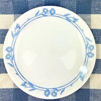 """Corelle Dinner Plates Set of 4 Corn Silk White w Blue Flower 10 1/4"""""""
