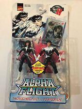 Marvel Comics Alpha Flight Northstar and Aurora action figures 1999 Toy Biz NEW!