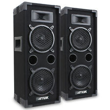 "2x MAX Dual 6"" Bedroom Studio House Party Speakers DJ Sound Setup 1200W UK Stock"