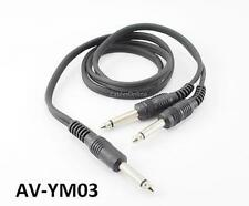 "3ft 1/4"" (6.3mm) TS Mono Male to Dual 1/4"" (6.3mm) TS Mono Male Y-Cable, AV-YM03"