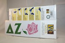 50-pack of Delta Zeta Sticker of Letters & Flower Mascot for Outside Glass, Car