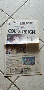 Full Super Bowl newspaper 2007 Colts Peyton Manning