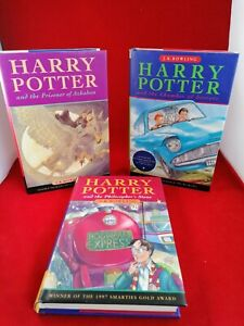 Harry Potter Hardback Collection First 3 Novels Ted Smart Great Condition
