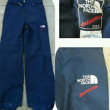 VTG THE NORTH FACE EXTREME Gore Tex SNOW SKI PANTS  Lined Boot Covers Navy Sz S