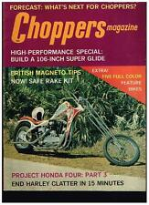 CHOPPERS MAGAZINE NOVEMBER 1972 SEE CONTENT 70's CUSTOM STREET CHOPPERS TECH