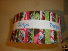 "Jelly Roll Stripz  2 1/2""x44"" 100% Cotton quilting fabric 50 Strips 4 patterns"