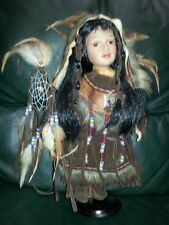 American Indian Doll. Princess With Dream Catcher.