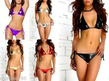 R1i 200 Pcs WHOLESALE LOT SEXY Brazilian Bikinis METALLIC DANCER LINGERIE RAVE