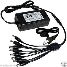 IR Security Cameras 8 Port 12V 5A DC Power Adapter for Q-see Zmodo Swann