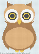 Crochet Patterns - OWL Color Graph Afghan Pattern *EASY